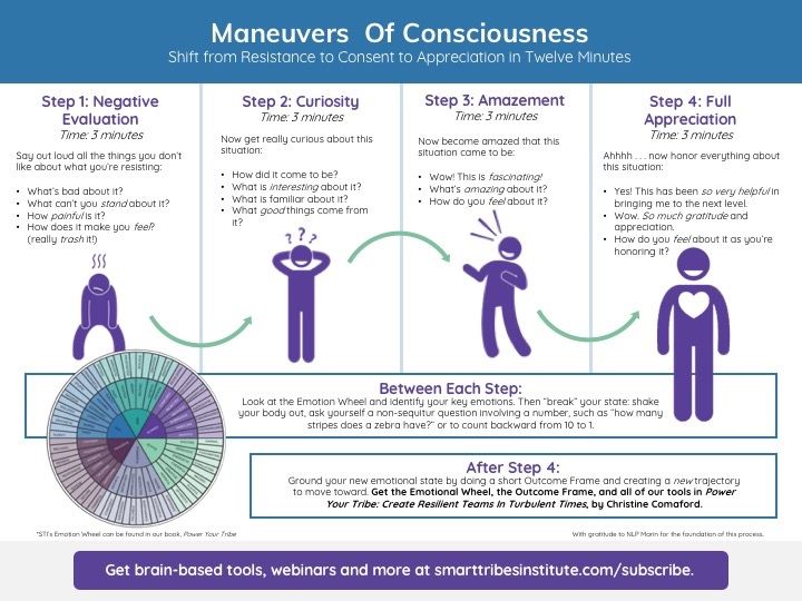 Shift from Resistance to Consent to Appreciation
